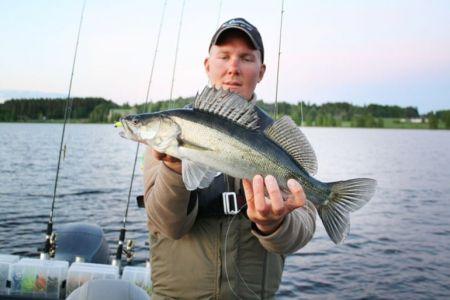 Риболовля на озері Кюросарві в районі Тампере