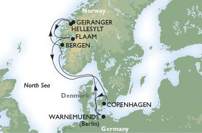 Круиз по фьордам Норвегии из Копенгагена