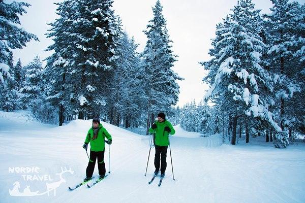 Урок катання на бігових лижах