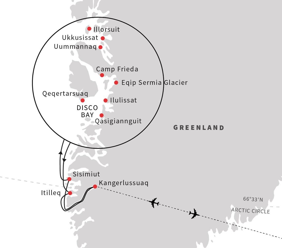 Літній круїз до фьордів та льодовиків Гренландії