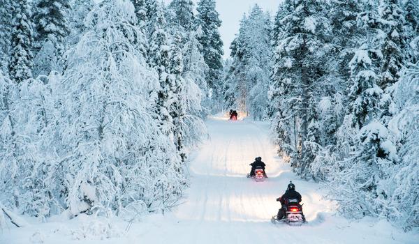 Тур на снегоходах по Лапландии