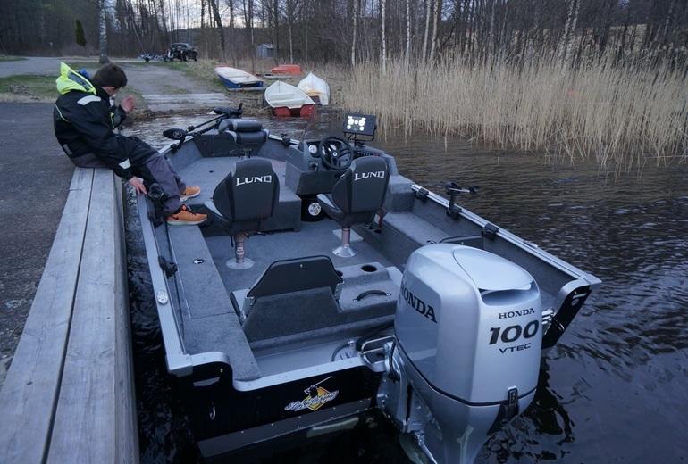Рыбалка на озере Венерн в Швеции