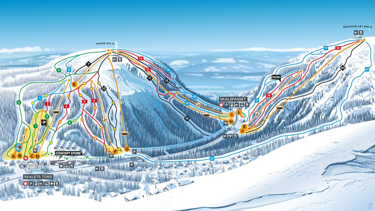 Тур на горнолыжный курорт Вемдален
